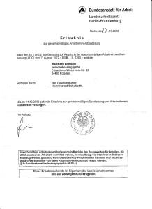 maler zeit potsdam personalleasing gmbh - Erlaubnis AÜ